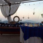 barca bomboniere blu